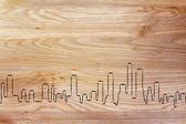 Skyline of generic city — Foto Stock