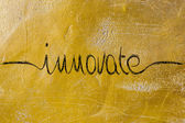 Innovate calligraphy — Stock Photo