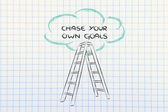 Chase your own goals — Zdjęcie stockowe