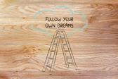 Jdi za svými sny — Stock fotografie