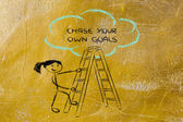 Chase your own goals — Stock fotografie