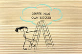 Create your own success — Foto Stock