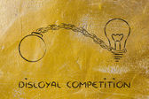 Unfair competition, emprisoning ideas — Stock Photo