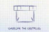 Hurdle design - overcome the obstacle — Stock Photo