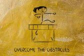 Hurdle design - overcome the obstacle — Stockfoto