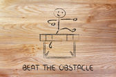 Hurdle design - beat the obstacle — Stock Photo