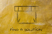 Hurdle design - find a solution — Zdjęcie stockowe