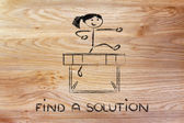 Hurdle design - find a solution — Stock Photo