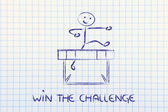 Hurdle design - win the challenge — Stock fotografie