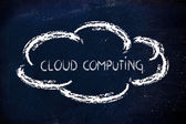 Funny representation of cloud computing — Stock Photo