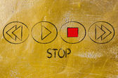 STOP button activated — Stock Photo