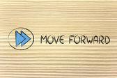 MOVE FORWARD - music or video device symbol — Stock Photo