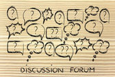 Internet forums and online discussions — Stock Photo