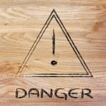 Danger road sign design — Stock Photo #49755895
