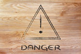 Danger road sign design — Stock Photo
