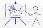 Learn or decide how to go global — Stock Photo