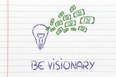 Conceptual image of a winning profitable idea — Stock Photo