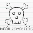 Unfair competition threat, funny skull metaphor — Stock Photo #50426019