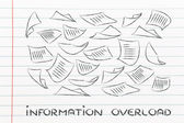Documents flying in the air — Stock Photo