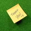 Note pad with thank you words. — Stock Photo