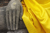Buddha hand meditation close-up — Stock Photo