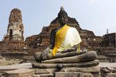 Arruinar a estátua de buda na tailândia ayutthaya — Fotografia Stock
