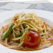 Thai papaysalad also known as Som Tum from Thailand — Stock Photo #38067371