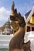Naga staircase in Wat Banden,hiangmai Thailand — Stock Photo