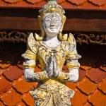 Thai angel in Thai Temple — Stock Photo