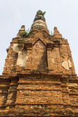 Old Chedi in Wat Phra That Hariphunchai — Stock Photo