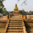 Old Chedi in Wiang Kum Kam, Ancient City — Stockfoto