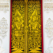 Stock Photo: Door at Thai temple