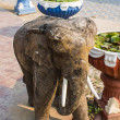 Carved wooden elephant — Stockfoto