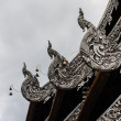 Naga Lanna Gable apex in Wat Chedi Luang — Stock Photo
