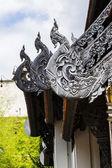 Naga Lanna Gable apex in Wat Chedi Luang — Stock Photo