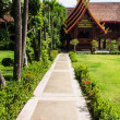 Cubicle lanna style in Wat Sri Don Moon , Chiangmai Thailand — Stock Photo