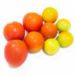 Cherry tomatoes. fresh tomatoes on white background. red tomato — Stock Photo