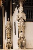 Thai ängel som gamla ubosot i wat buak krok luang, chiangmai — Stockfoto