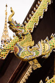 Naga Lanna Gable apex on Ubosot , in Wat Buak Krok Luang — Stock Photo