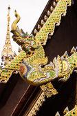 Naga Lanna Gable apex on Ubosot , in Wat Buak Krok Luang — Stock Photo
