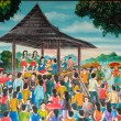 Thai mural wall painting, chorus — Stock Photo #35898369