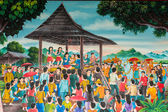 Thai mural wall painting, The chorus — Stock Photo
