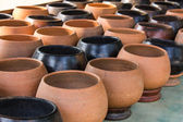 Monk's alms bowl , CLAY — Stock Photo