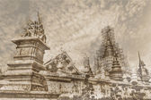 Vintage - Wat Ban Den, Maetang Chiangmai Thai Temple — Stock Photo