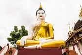 Big buddha image at golden triangle in Ubosot Wat Raja Mon Thian — Stock Photo