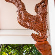 Swan art for decoration with wood — Stock Photo