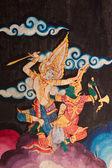 Thai Mural painting in Wat Doi Tan Pra — Stock Photo