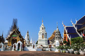 Ubosot And Chedi in Wat Ban Den, Maetang Chiangmai Thai Temple — Stock Photo