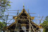 Thai temple construction — Stock Photo