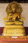 Chinese Buddha statue in wat Phra That Haripunchai — Stock Photo